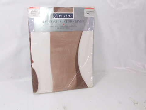 Aristoc Harmony Point Stockings Gentle Smoke Size 2 Vintage 100% Nylon