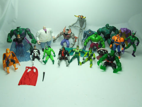 Action Figures Bundle Vintage 1990s Spawn Marvel Iron Man Hulk Heroes & Villians