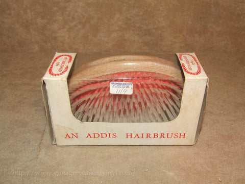 Addis Hairbrush Boxed Made In England Vintage Very Good Condition - Vintage Retro And Vinyl - 1