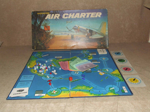 Air Charter Board Game - Waddingtons - Vintage 1970 - Boxed & Complete - Vintage Retro And Vinyl - 1