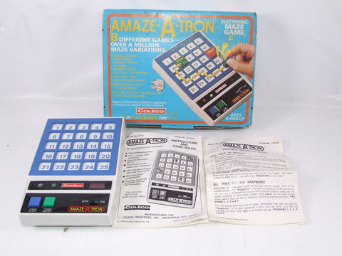 Amaze A Tron Electronic Maze Game Boxed With Instructions Tested Working 6+ 1970s
