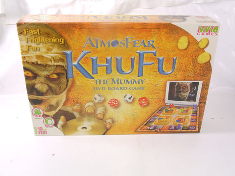 Atmosfear Khufu The Mummy Scary Fast Frightening Fun Board Game Sealed Contents