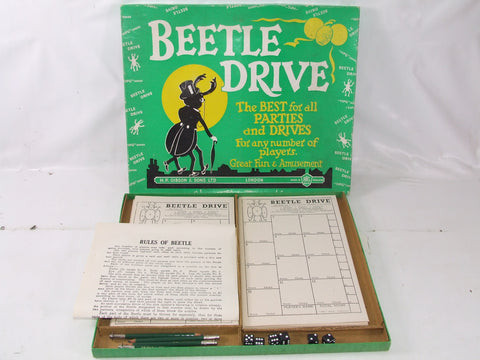 Beetle Drive Vintage Dice Game Boxed & Complete