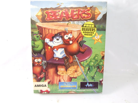 Beavers Game For Commodore Amiga Big Box Version