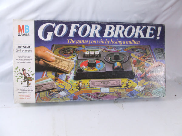 Go For Broke Family Board Game Boxed & Complete 1980s