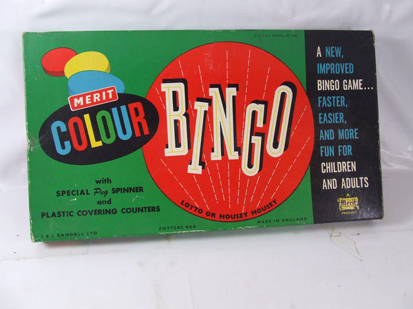 Merit Colour Bingo Lotto or Housey Housey Boxed 1960