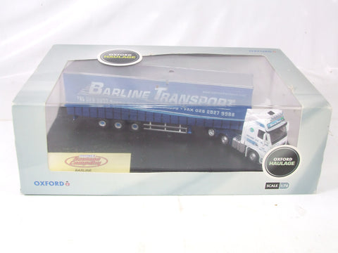 Oxford Haulage Barline Transport Volvo FH Curtainside Lorry 1/76 Scale