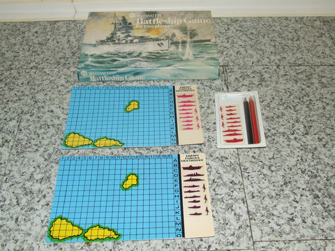 Battleship Game For Two Players By W H Smith Vintage In Very Good Condition - Vintage Retro And Vinyl - 1