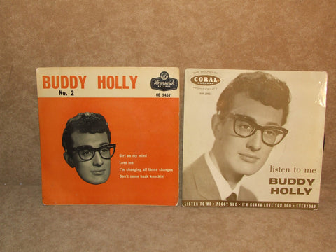 Buddy Holly 2 x EP's No 2 And Listen To Me Picture Sleeves Coral Brunswick