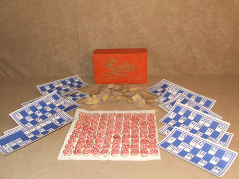 Lotto Boxed And Complete By Spears Games Made In England - Vintage Retro And Vinyl - 1