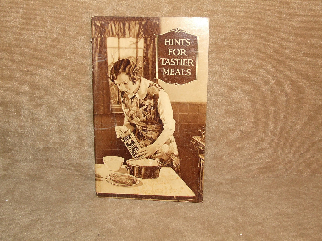 Bisto Hints For Tastier Meals Made In England Vintage 1930 - Vintage Retro And Vinyl - 1