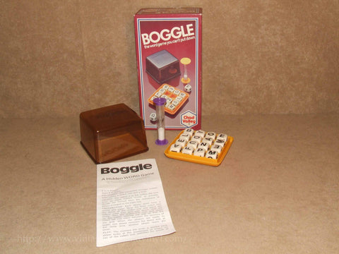 Boggle Word Game - Boxed & Complete 8+ - Chad Valley - Vintage 1976 - Vintage Retro And Vinyl - 1