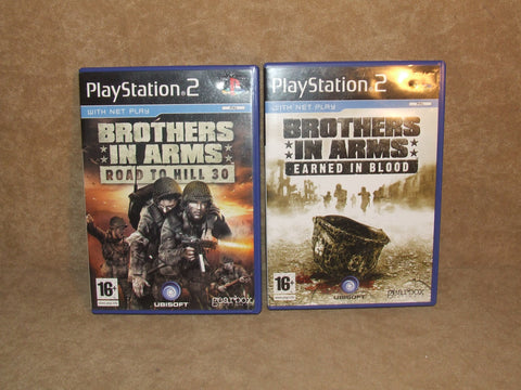 Brothers In Arms Road to Hill 30 And Earned In Blood Bundle Sony PS2 Used - Vintage Retro And Vinyl - 1