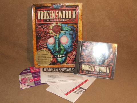 Broken Sword II The Smoking Mirror 2 Disc PC Big Box Video Game - Vintage Retro And Vinyl - 1