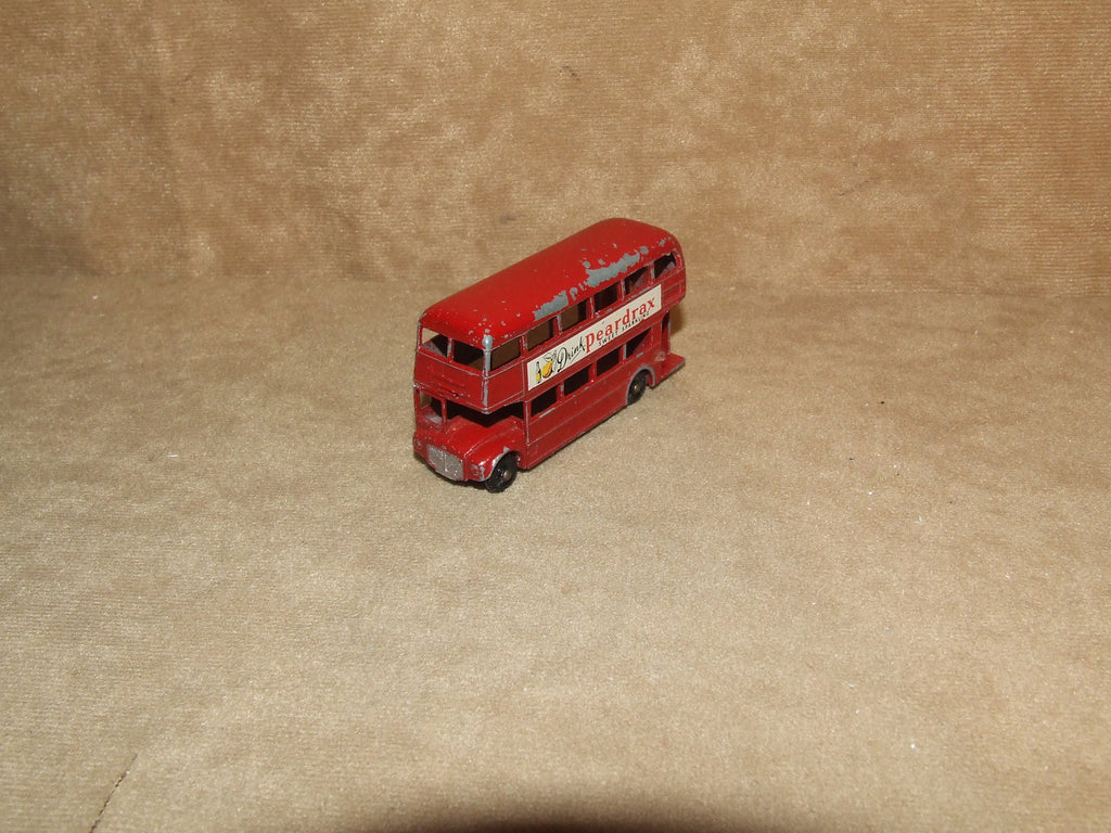 Lesney Routemaster Bus Peardrax Black Wheels No 5C No Box Matchbox - Vintage Retro And Vinyl - 1