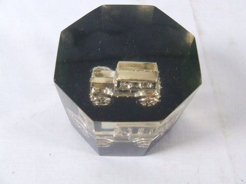 Vintage Car in Octagonal Lucite