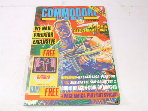 Commodore User Magazine Feb 1988 Complete With Free Gift Amiga C64/128