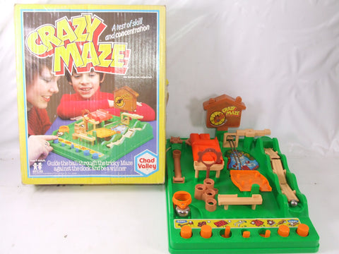 Crazy Maze Game Boxed & Complete No Batteries Required