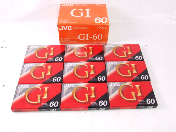 JVC G1 - 60 Sealed Compact Cassette Tapes x 9 Boxed Audio