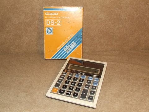 Casio DS-2 Electronic Calculator Boxed Working Vintage 1980s