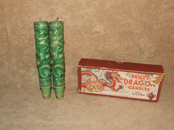 Prices Dragon Candles - Prices Art Candles - Boxed - Vintage - Vintage Retro And Vinyl - 1