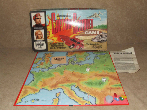 Captain Scarlet The Fight With The Mysterons Game - Waddingtons - Vintage 1967 - Vintage Retro And Vinyl - 1