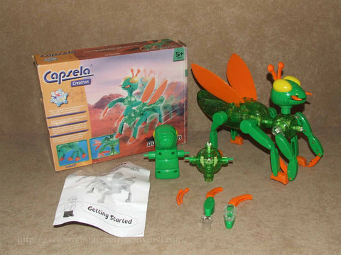 Capsela Creation Bug Builder - VTech - Boxed & Complete Age 5+ - Vintage Retro And Vinyl - 1