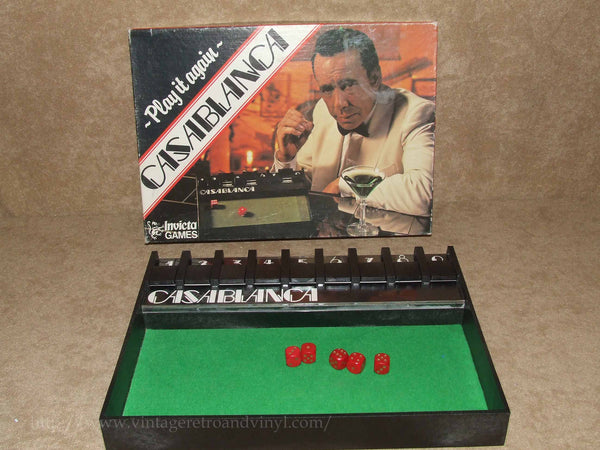 Casablanca Play it Again Dice Game By Invicta Boxed & Complete - 1970's Vintage - Vintage Retro And Vinyl - 1