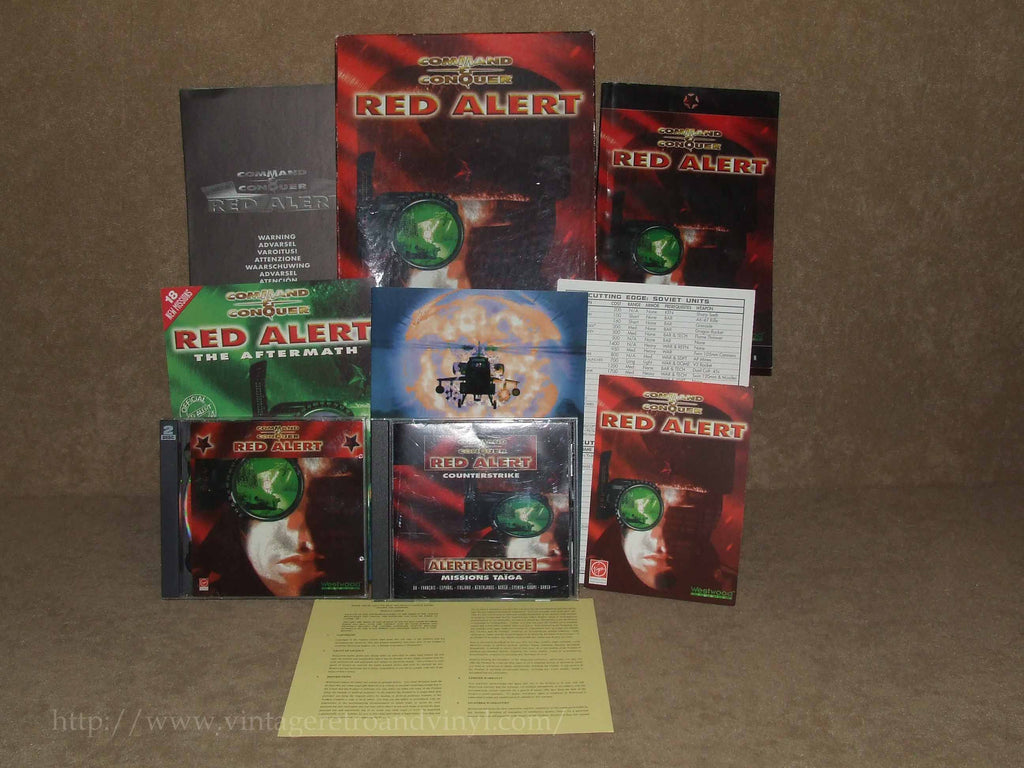 Command And Conquer Red Alert Big Box PLUS Red Alert Counter Strike - PC Games - Vintage Retro And Vinyl - 1