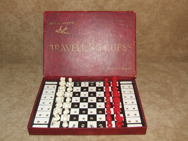 House Martin Travelling Chess Boxed And Complete Vintage 1960's Made In England - Vintage Retro And Vinyl - 1