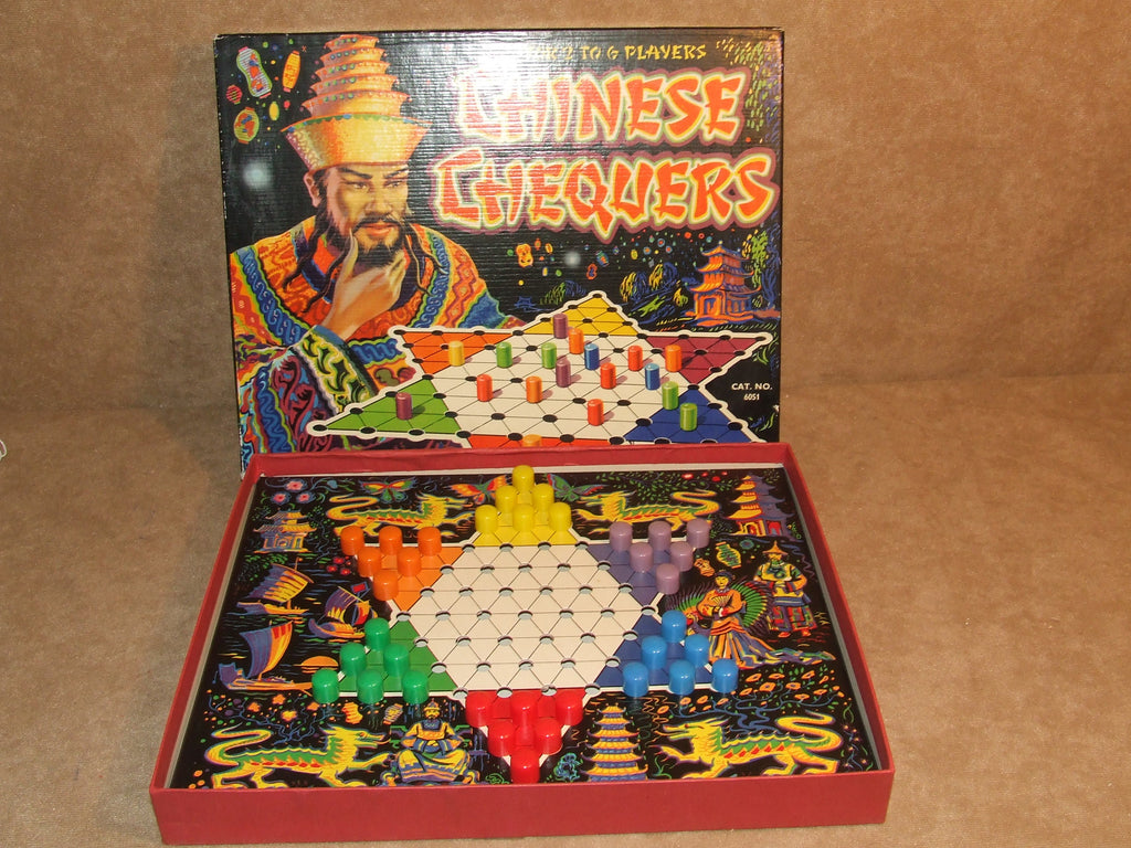 Merit Chinese Chequers Game Boxed And Complete Vintage 1960 J & L Randall