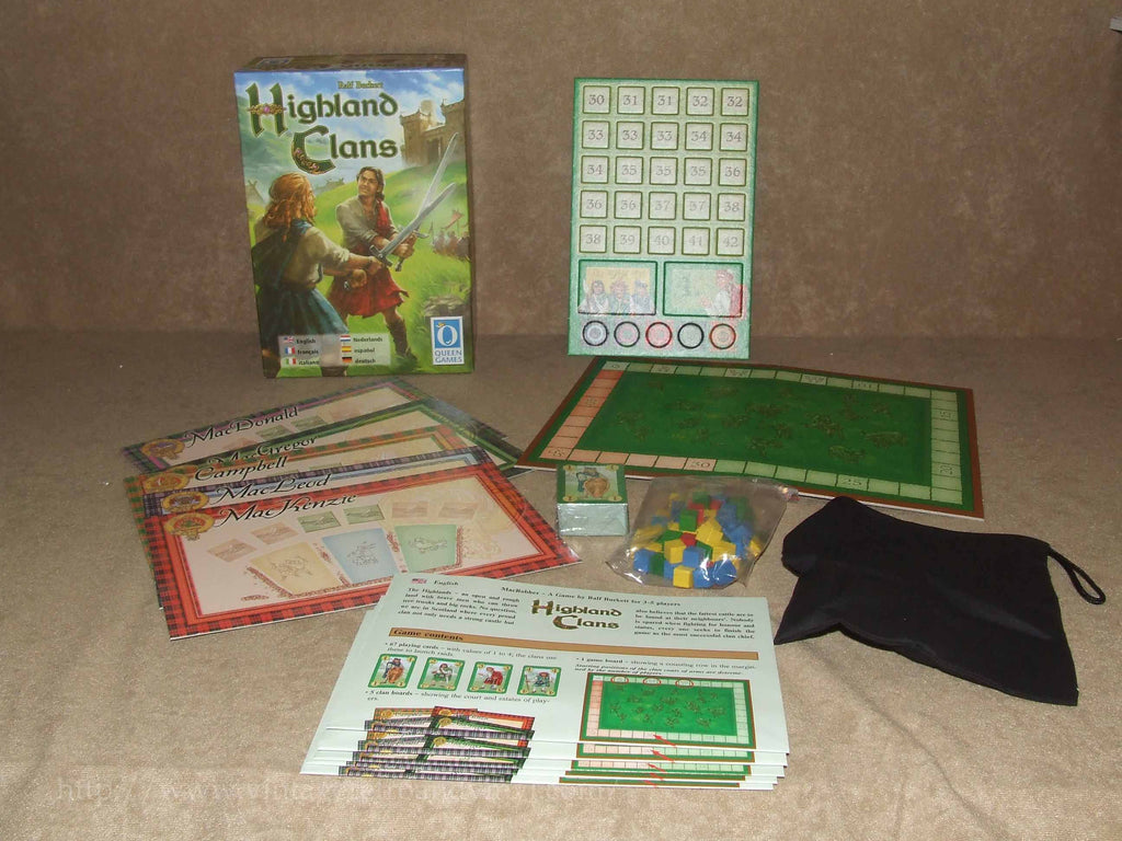 Highland Clans - Queens Games - Unplayed - Contents Sealed/Un-Punched - Vintage Retro And Vinyl - 1