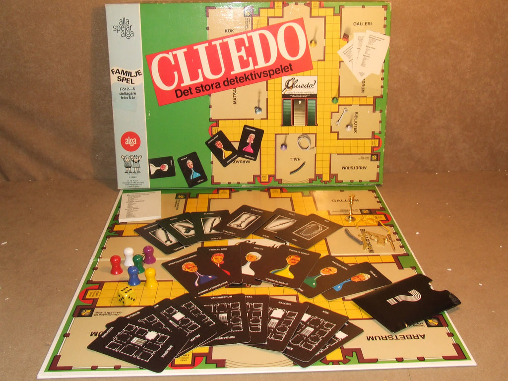 Cluedo Swedish Edition By Alga Boxed And Complete Vintage 1972 - Vintage Retro And Vinyl - 1
