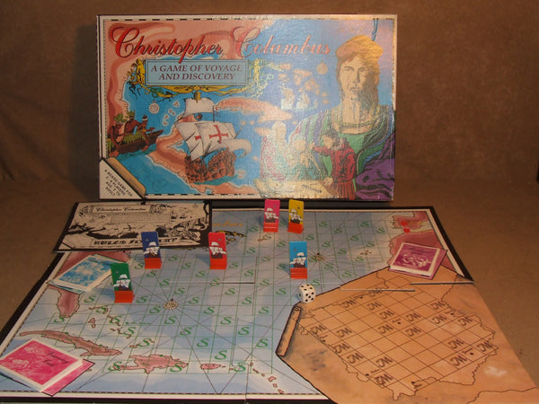 Christopher Columbus A Game Of Voyage & Discovery Boxed And Complete Vintage '92 - Vintage Retro And Vinyl - 1
