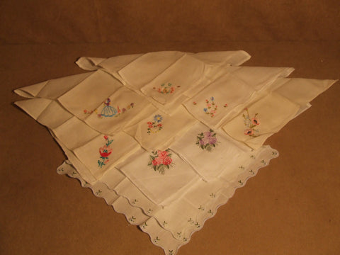 Ladies Embroidered Handkerchiefs Collection Vintage - Vintage Retro And Vinyl - 1