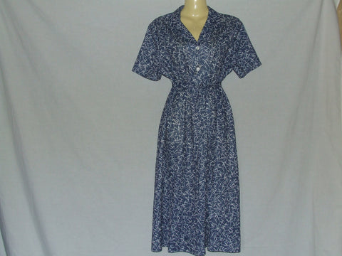 Ladies Dress Blue And White By Compliments Size 18 Vintage - Vintage Retro And Vinyl - 1