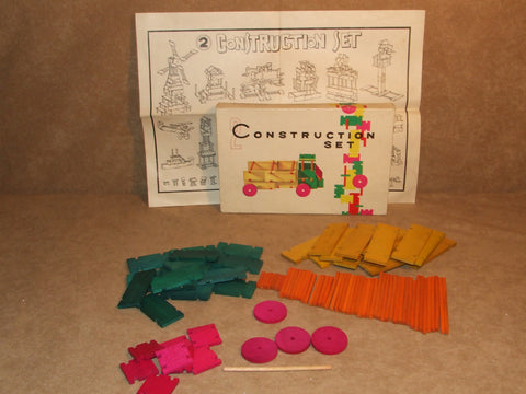 Wooden Construction Set 2 Boxed Vintage - Vintage Retro And Vinyl - 1