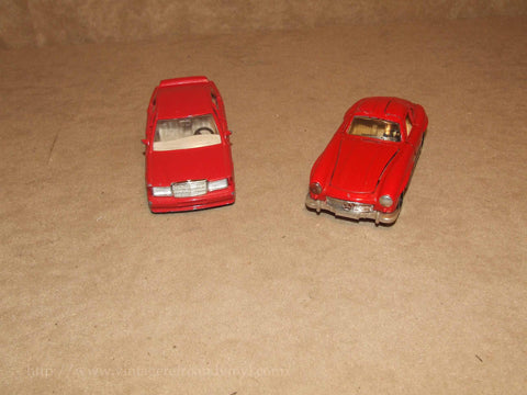 2 x Corgi Red Mercedes Benz Diecast Models 300SL & 190E - Vintage Retro And Vinyl - 1