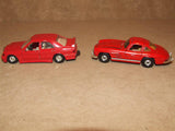 2 x Corgi Red Mercedes Benz Diecast Models 300SL & 190E - Vintage Retro And Vinyl - 2