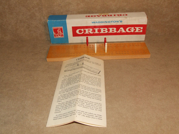 Cribbage Score Board Boxed Complete With Rules Waddingtons Vintage - Vintage Retro And Vinyl - 1