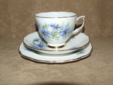 Colclough Bone China 1950's Cup, Saucer & Sandwich Plate - Nigella - Vintage Retro And Vinyl - 3