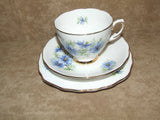 Colclough Bone China 1950's Cup, Saucer & Sandwich Plate - Nigella - Vintage Retro And Vinyl - 1