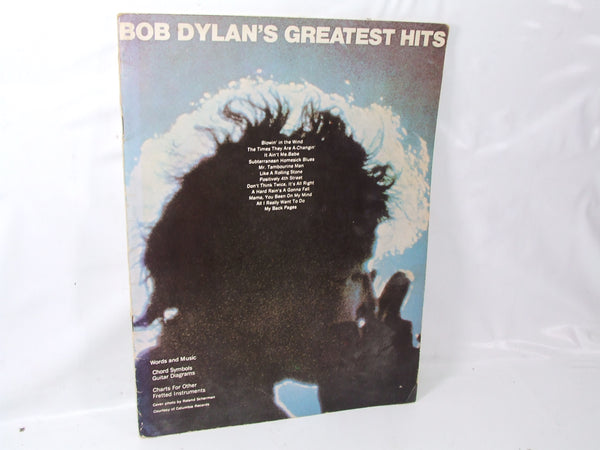 Bob Dylans Greatest Hits Music Book For Guitar & Fretted Instruments