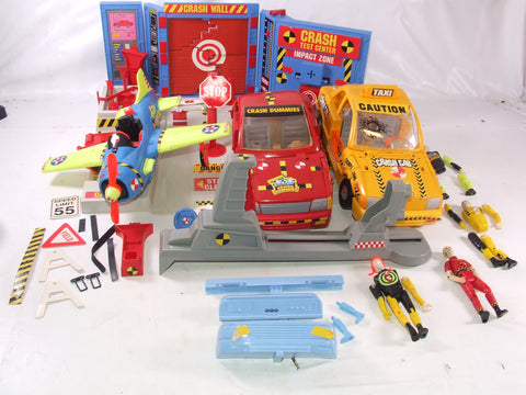 Crash Test Dummies Bundle Car Taxi Plane Test Centre Figures