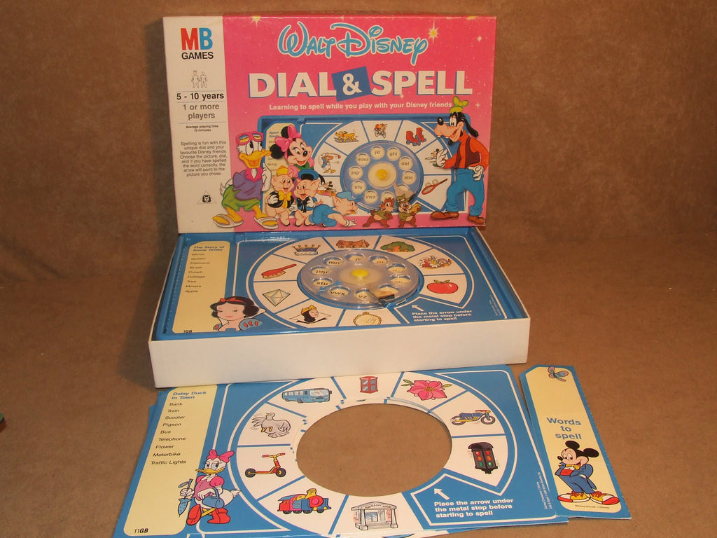 Walt Disney Dial And Spell Game Vintage 1990 MB Games Age 5+ Boxed And Complete - Vintage Retro And Vinyl - 1