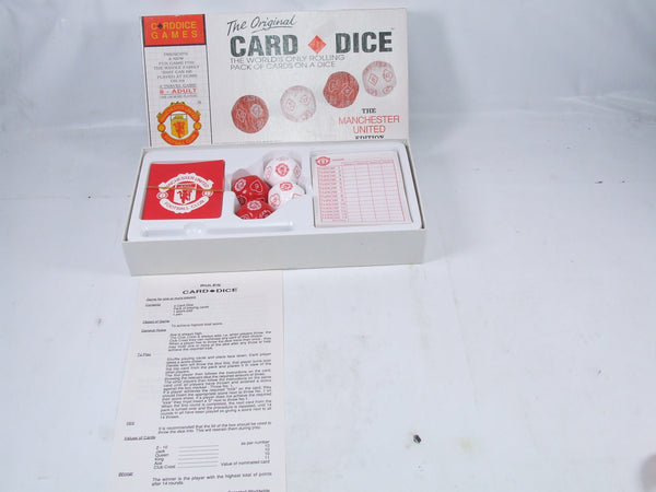 The Original Card Dice Game Manchester United 1992 Edition