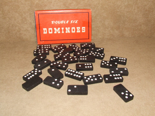 Double Six Dominoes No 188 Boxed And Complete Vintage Made In Hong Kong