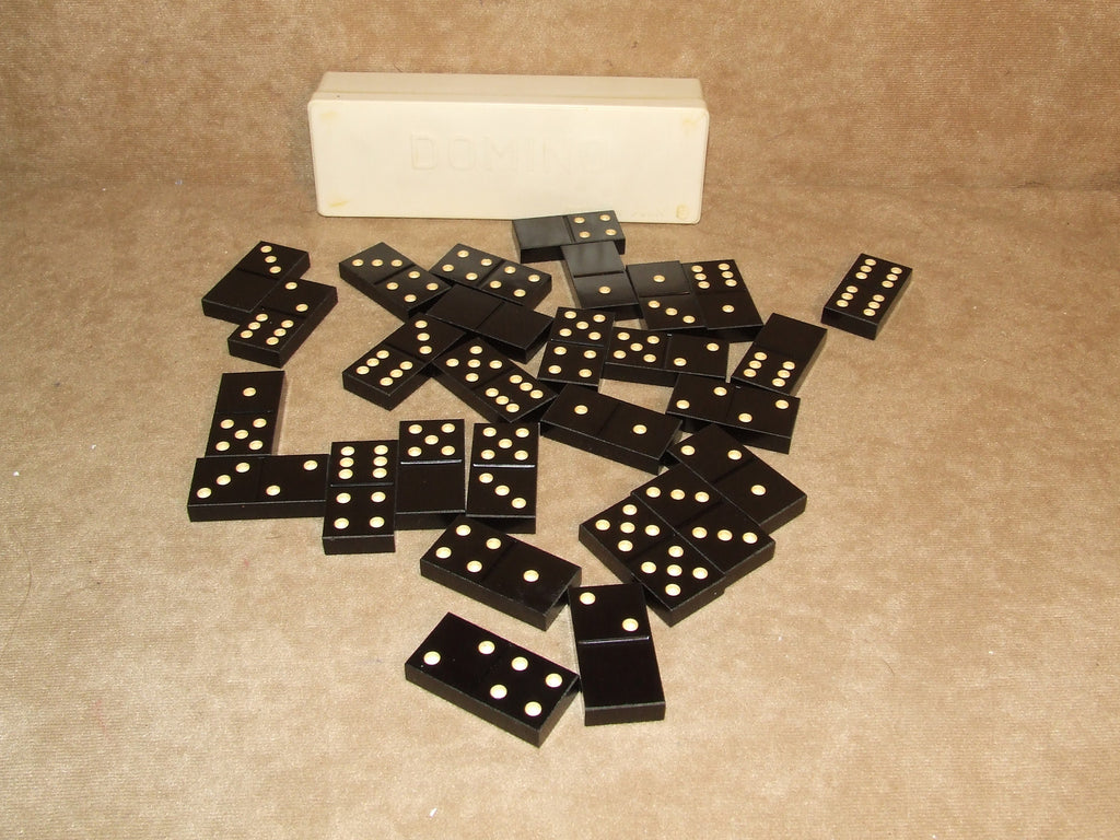 Dominos Set In Plastic Case Vintage Made In USSR Complete
