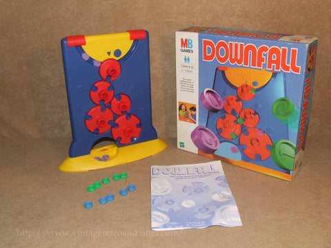 Downfall Game - MB Games - Boxed & Complete - 1999 Age 7+ - Vintage Retro And Vinyl - 1