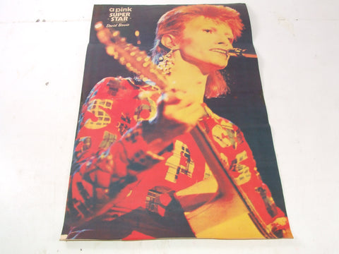 David Bowie Original Magazine Poster 43 x 27.5 cm Ziggy With Earring 1970's